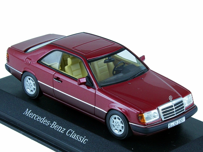 Модель Mercedes-Benz 230 CE – 300 CE-24 C 124 (1987–1993), Almandine Red Metallic, 1:43 B66040514
