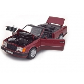 Модель Mercedes-Benz 300 CE-24 Cabriolet A124 (1992–1993), Almandine Red Metallic, 1:18 B66040616
