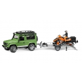 Land Rover Defender Station Wagon, Snowmobile With Trailer & Driver Set LBTY551GNA